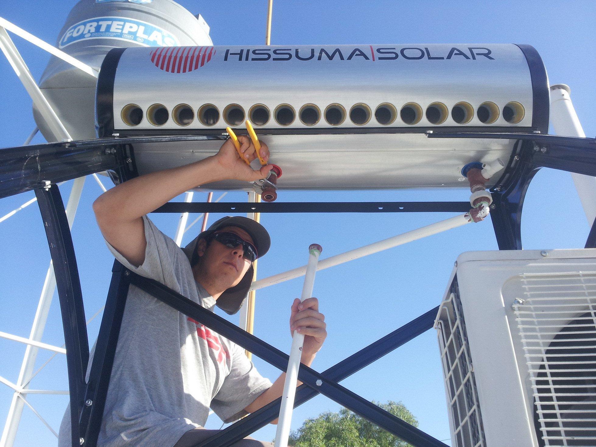 Instalación de Termotanque Solar